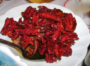I piatti tipici della Basilicata - Peperoni cruschi fritti