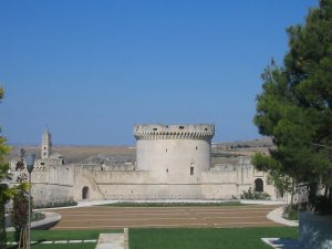 Il Castello Tramontano di Matera oggi