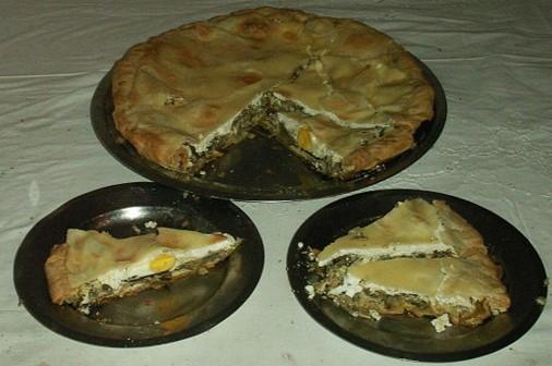 piatti tipici della Liguria torta pasqualina
